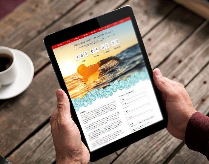 Commercial real estate website design mobile