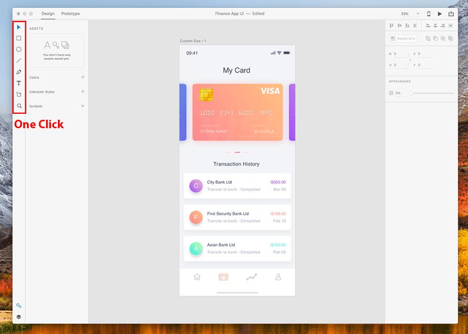 UI Interface - Adobe XD